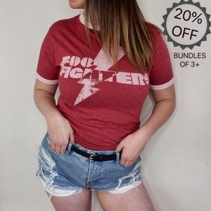 Foo Fighters | Red Graphic Band Tee | S